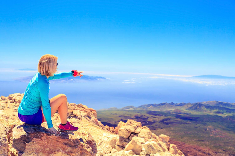 hiking in tenerife, views