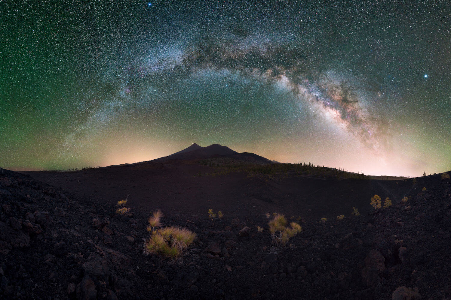 View of sky from Pico del Teide