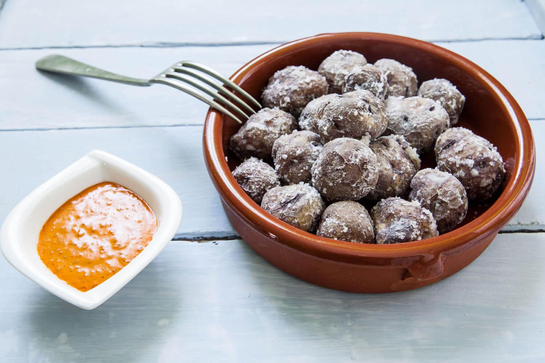 papas arrugadas, traditional food of tenerife