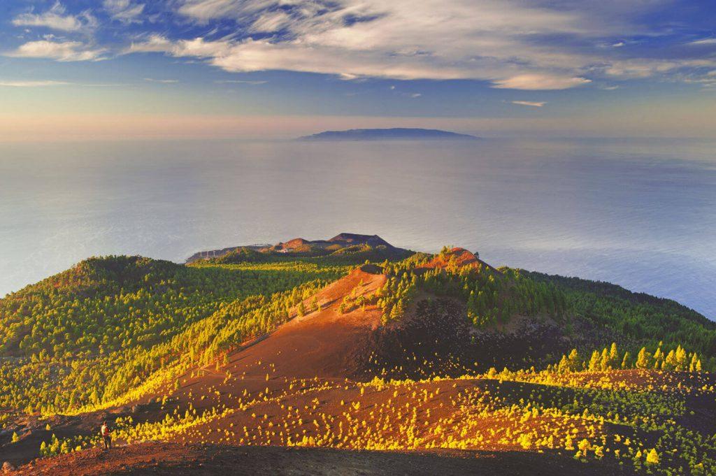 the volcano route, la palma