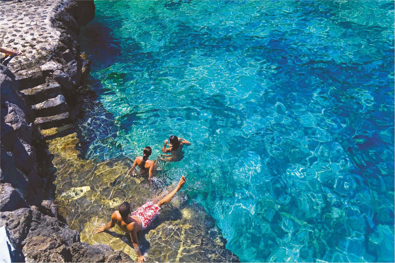 natural sea pools at charco Azul