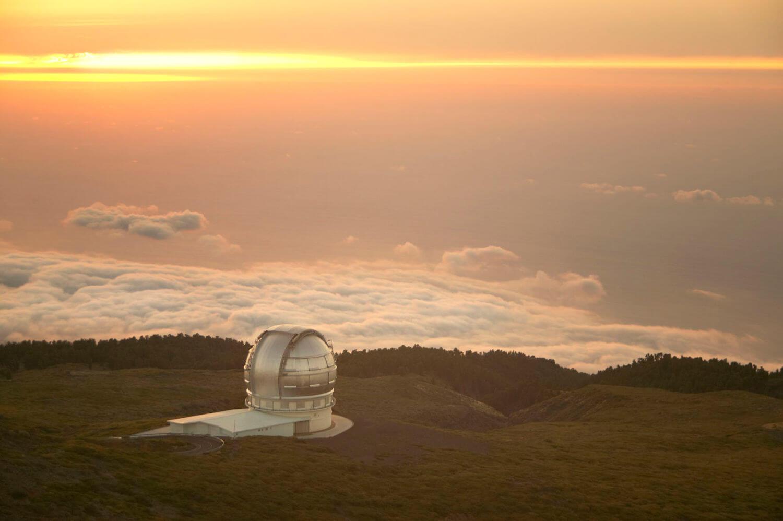 telescope at roque de los muchachos
