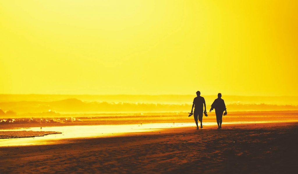 couple on beach, best canary island for couples