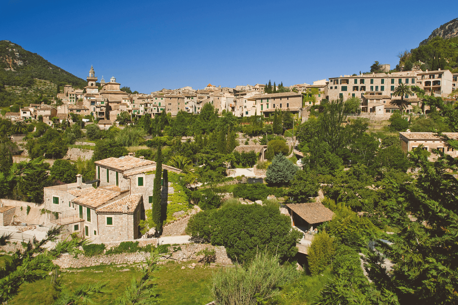View of Valldemossa Village