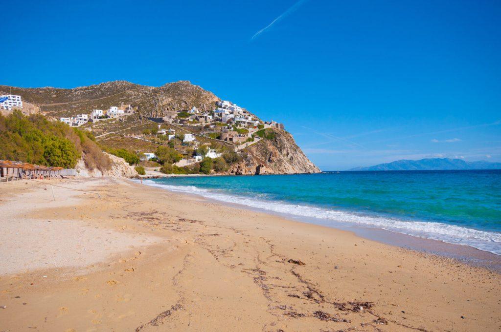 mykonos beaches, elia beach