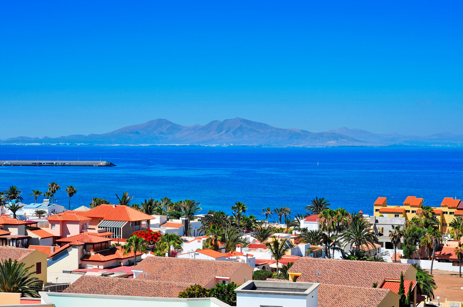 view of lobos from corralejo