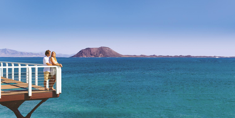 View to Isla de Lobos from Fuerteventura