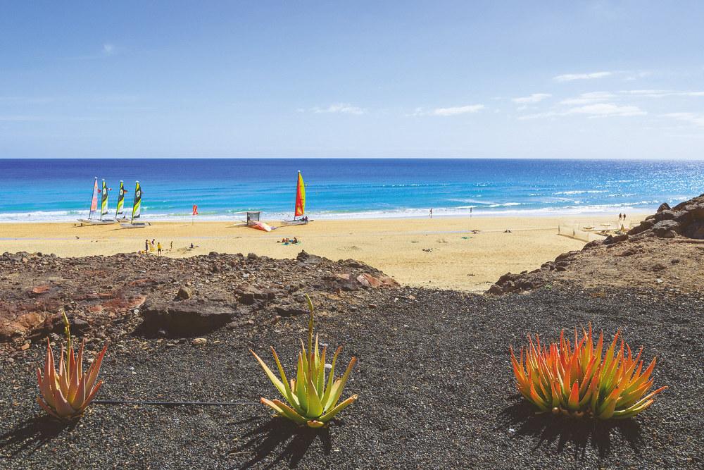 morro jable beach in fuerteventura