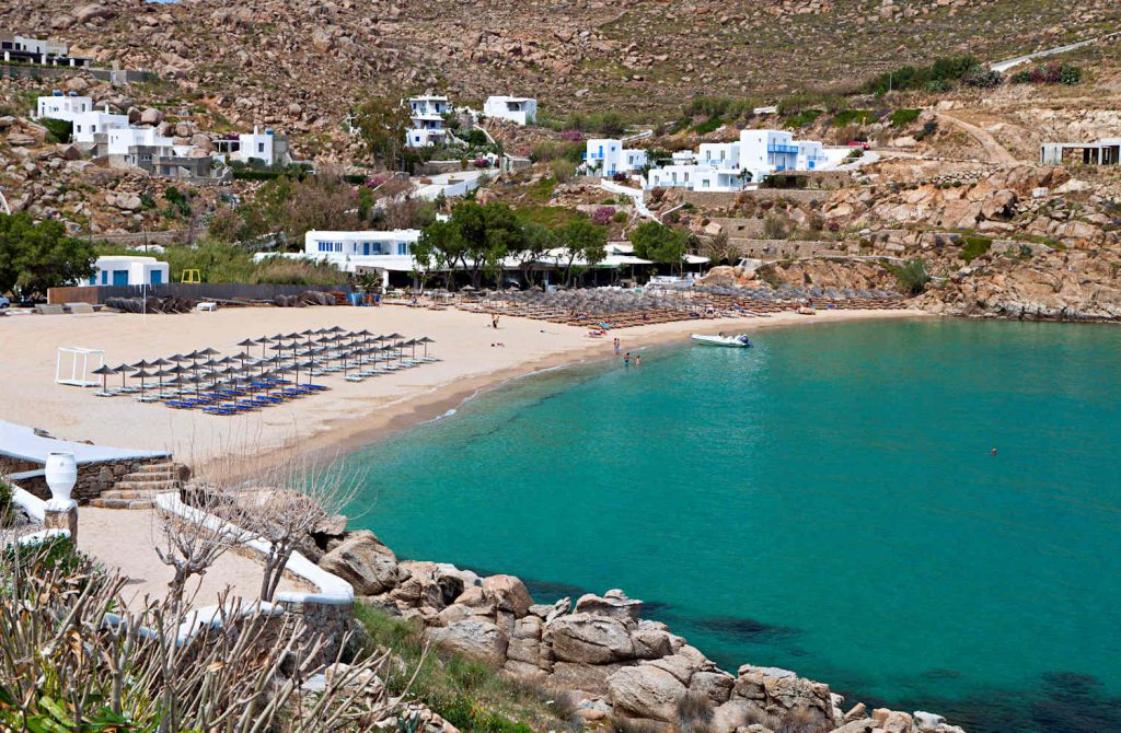 super paradise beach on mykonos island