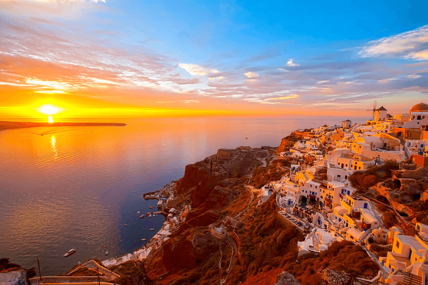 Santorini, sunset views
