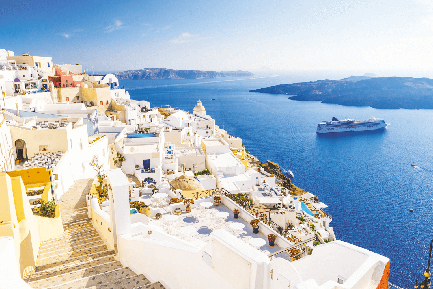 Santorini, view over Fira