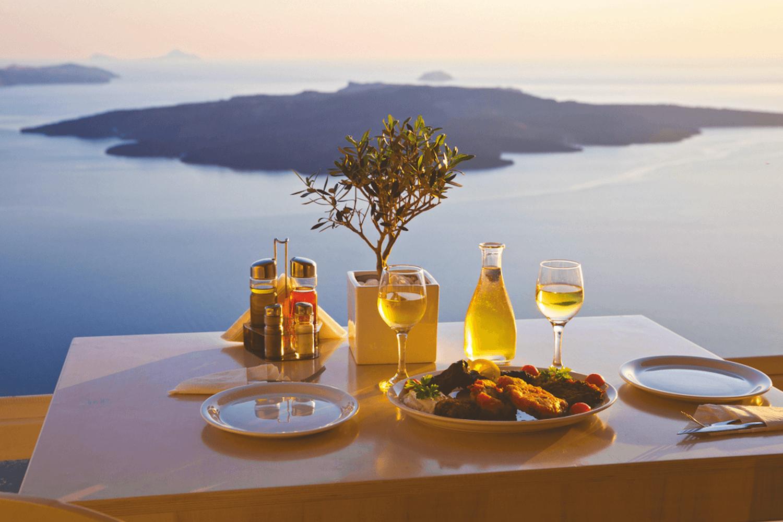 Santorini, restaurant dining