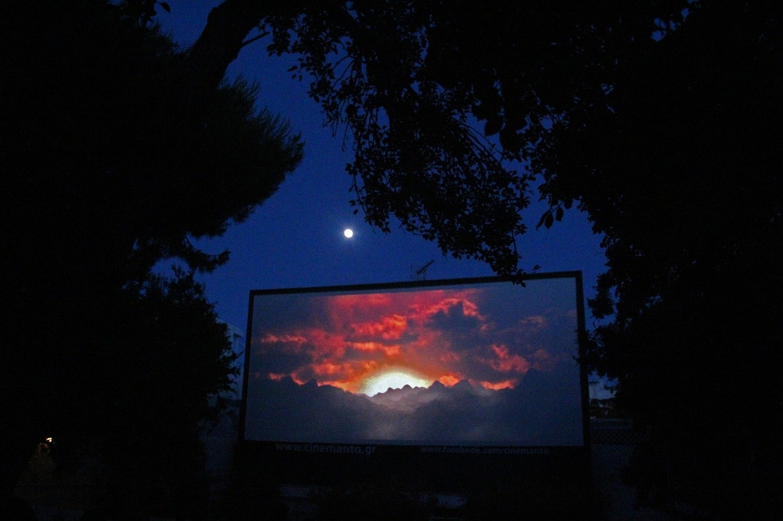 unique things to do in mykonos, outdoor cinema
