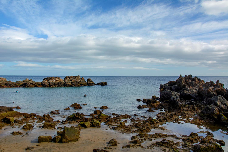 The rocks of Playa Chica