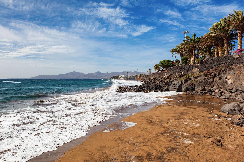 The coast end of Playa Grande Beach