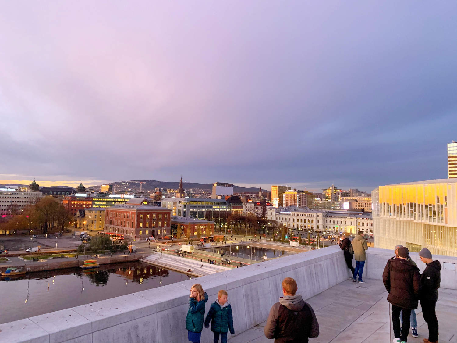 View from Opera house in Oslo