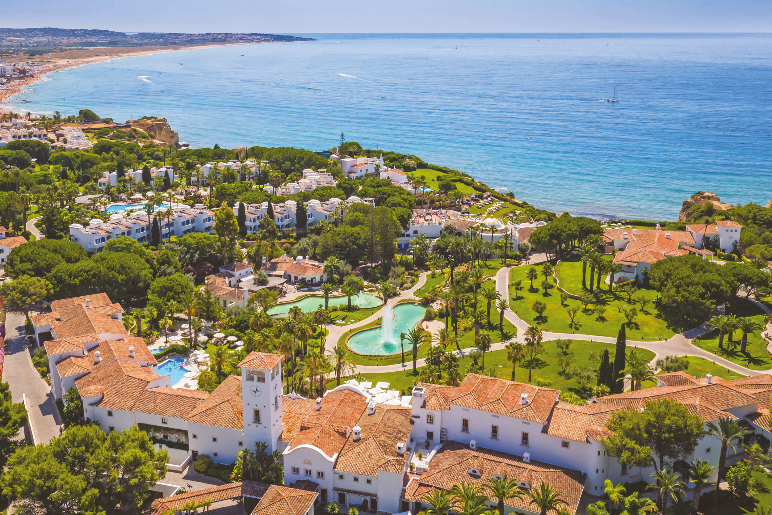 Skip generation, Algarve, Vila Vita, aerial view