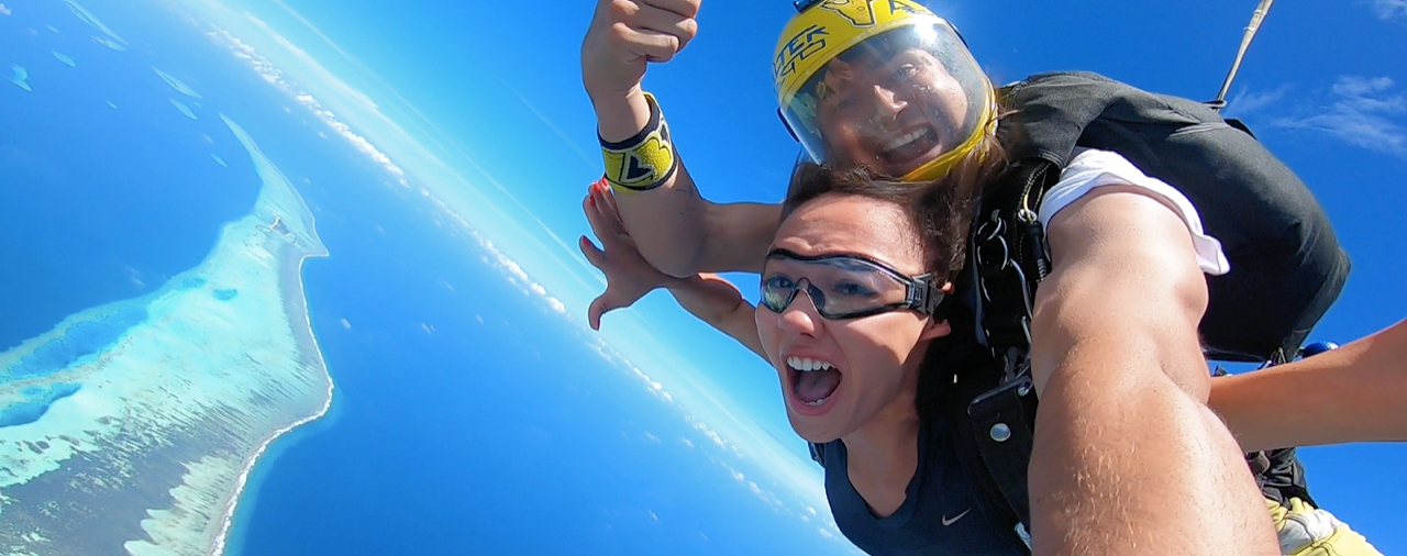 Skydiving in the Maldives