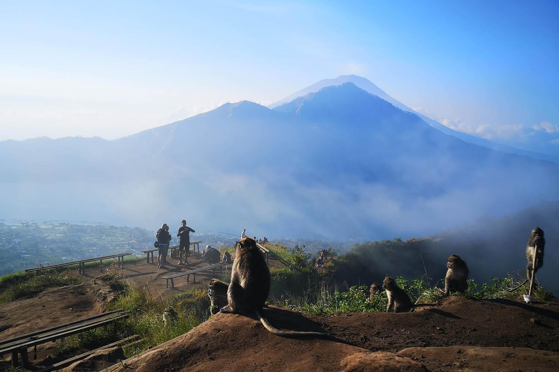 Top of Mt.Batur in Bali
