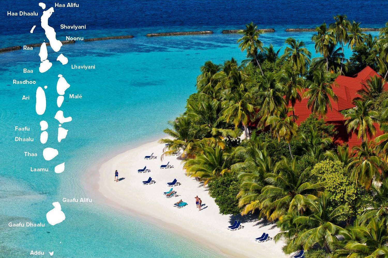 Maldives atolls map