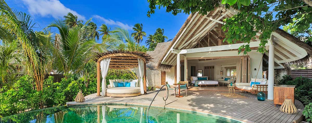 Exterior of Beach Villa at Milaidhoo Island Maldives