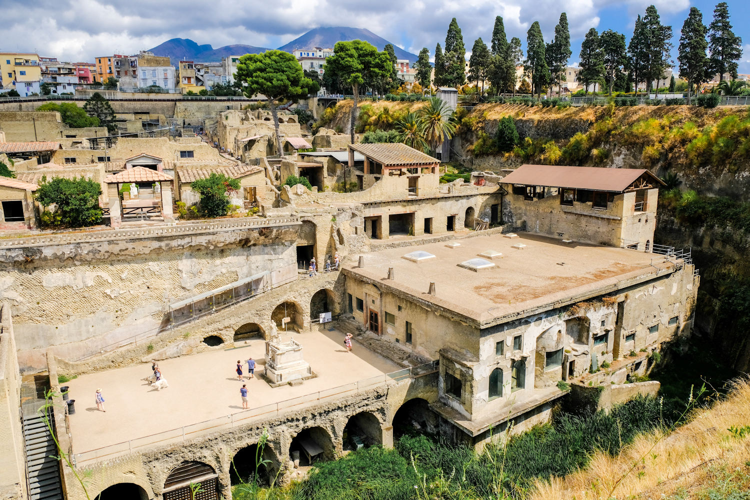 The archaeological excavations of Herculaneum