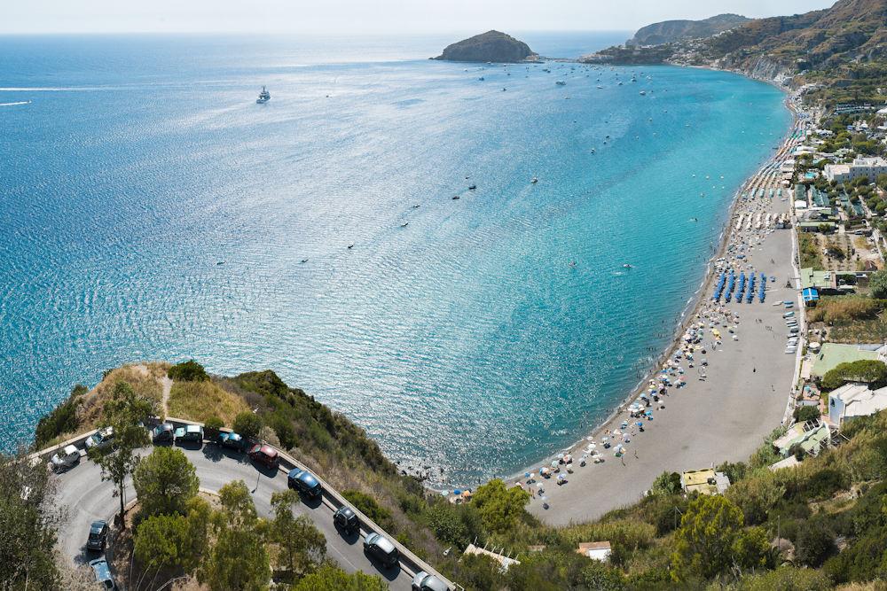View of Lacco Ameno beach
