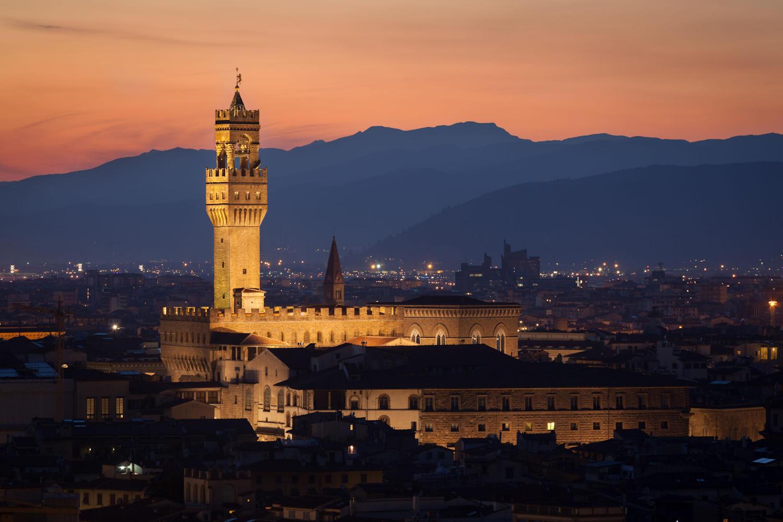 Palazzo Vecchio evening landscape