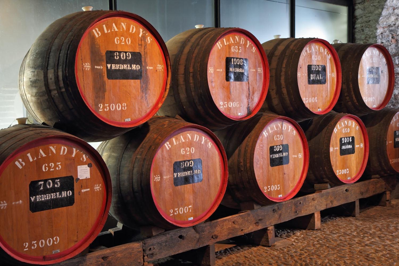 Blandy's wine stored in huge oak barrels