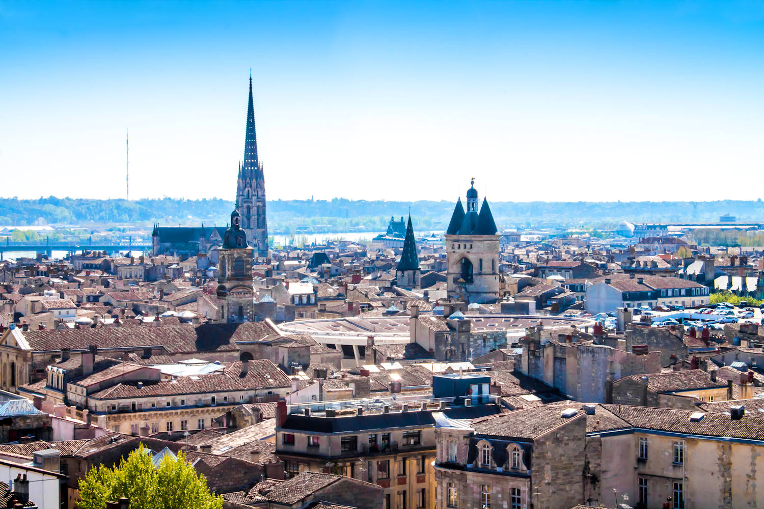 Panoramic view of Bordeaux