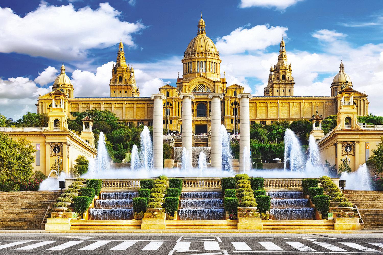 The Museu Nacional d'Art de Catalunya, National Art Museum of Catalonia, in Barcelona