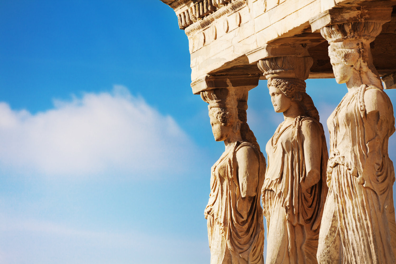 The Caryatids of the Erechtheion, Athens