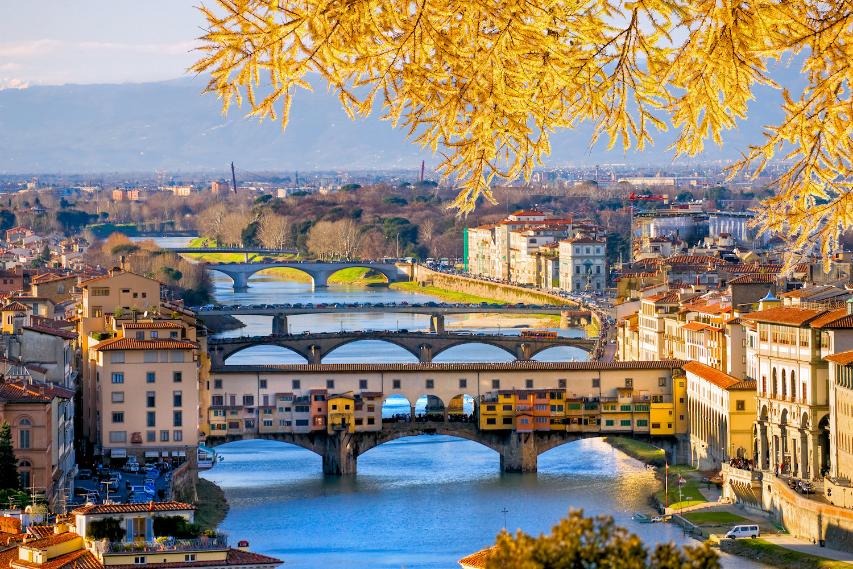 View of Ponte Vecchio, Florence, Italy
