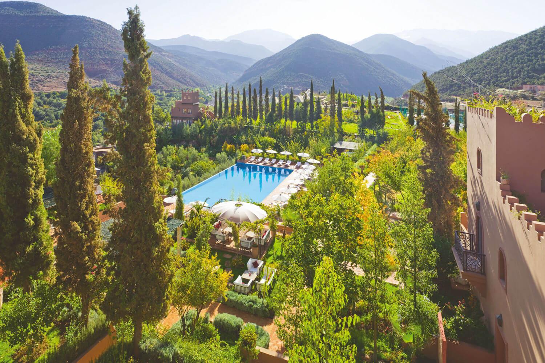 Atlas Mountains at hotel Kasbah Tamadot